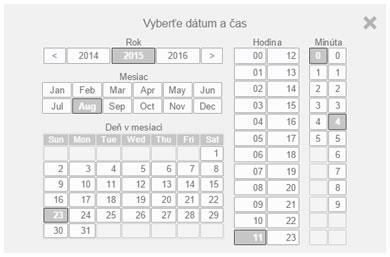 Zadávanie dátumov